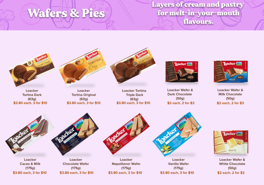 Candy Empire Wafers & Pies Page 1